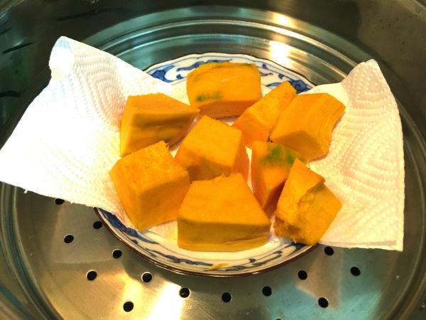 かぼちゃを蒸す