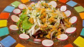 カツオの味噌たたきサラダ