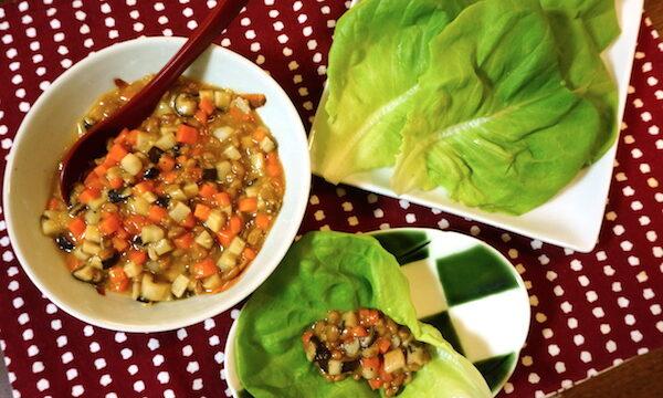納豆と野菜のみそ炒め