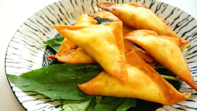 豆腐と枝豆のサモサ