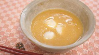 レンズ豆とゆり根のおしるこ