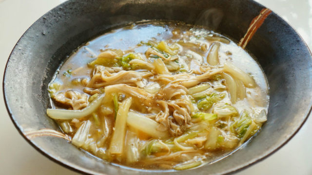 白菜ときのこのうま煮