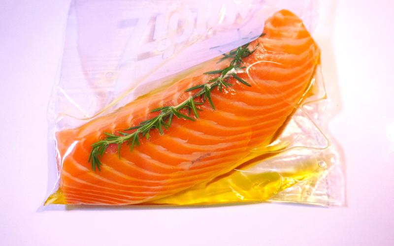 マリネした鮭